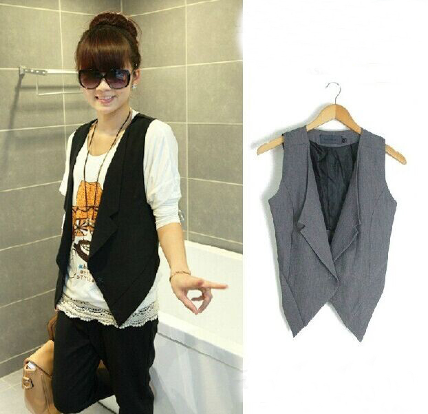 Free shipping , 2014 Summer fashion vest female fashion blazer vest waistcoat