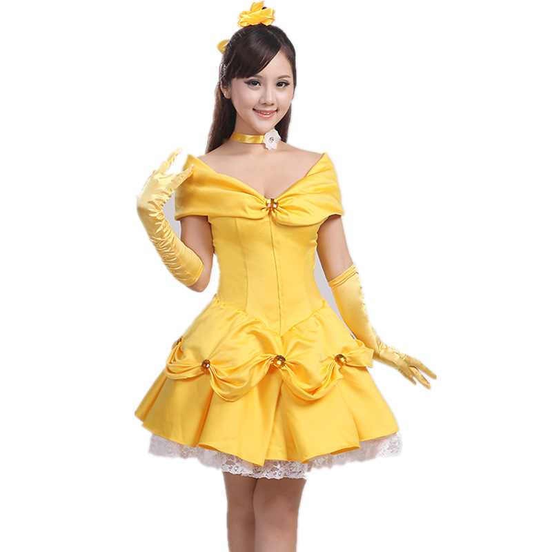 Bride Dress Cosplay Beauty And The Beast Princess Belle