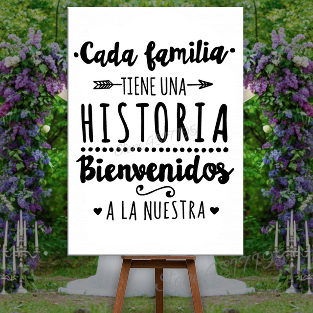 Spanish Version Family Vinyl Wall Decal Every Family Has A History Quote Wall Sticker Home Party Decoration Poster Gift AZ445