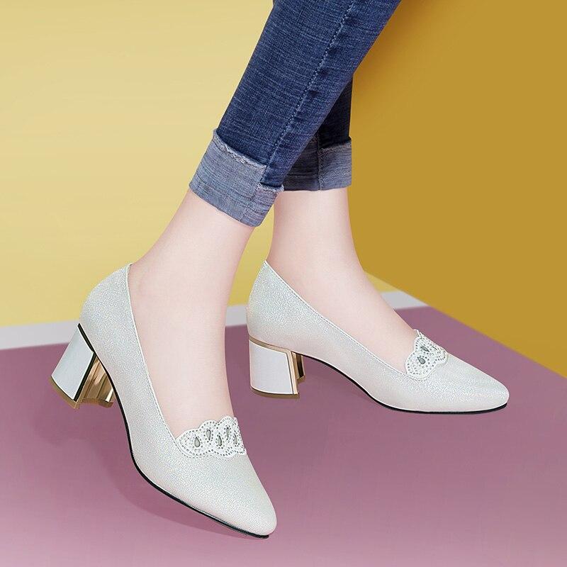 MYCORON/Новые модные женские туфли без шнуровки на высоком каблуке, туфли лодочки с ремешком на щиколотке, женские пикантные туфли на высоком к