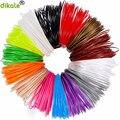 Dikale 3 м x 12 видов цветов 3D печати Материал 3D ручка нити PLA 1 75 мм Пластик Заправка для 3D Impresora рисунок принтер карандашом