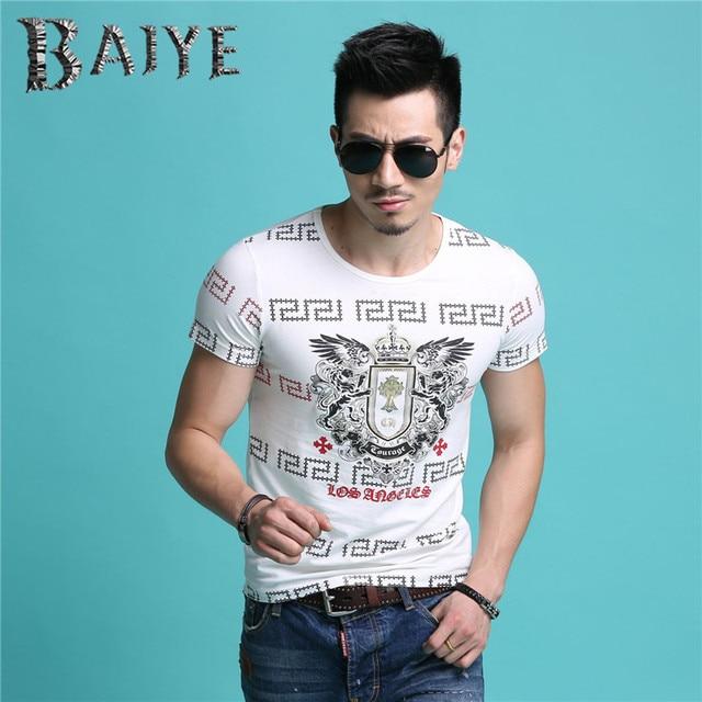 2017 последние дизайн топ мода новые мужские летние футболки бренд мужской короткий рукав Футболки мужчины роскошь футболка clothing