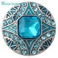 D02859 Novos estilos de Cristal 20mm de Metal Botão Snap Fit Snaps Snap Bracelet & Bangles Charme Strass Estilos Botão Rivca jóias