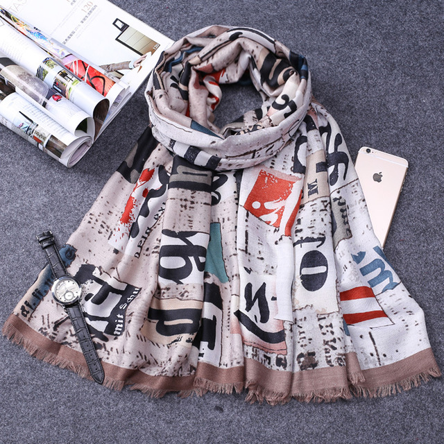Luxury Brand Women Scarves Cotton Beach Sarongs Scarf Letters Design Scarf Wrap Shawl for Women Ladies Cotton Scarves Hijabs