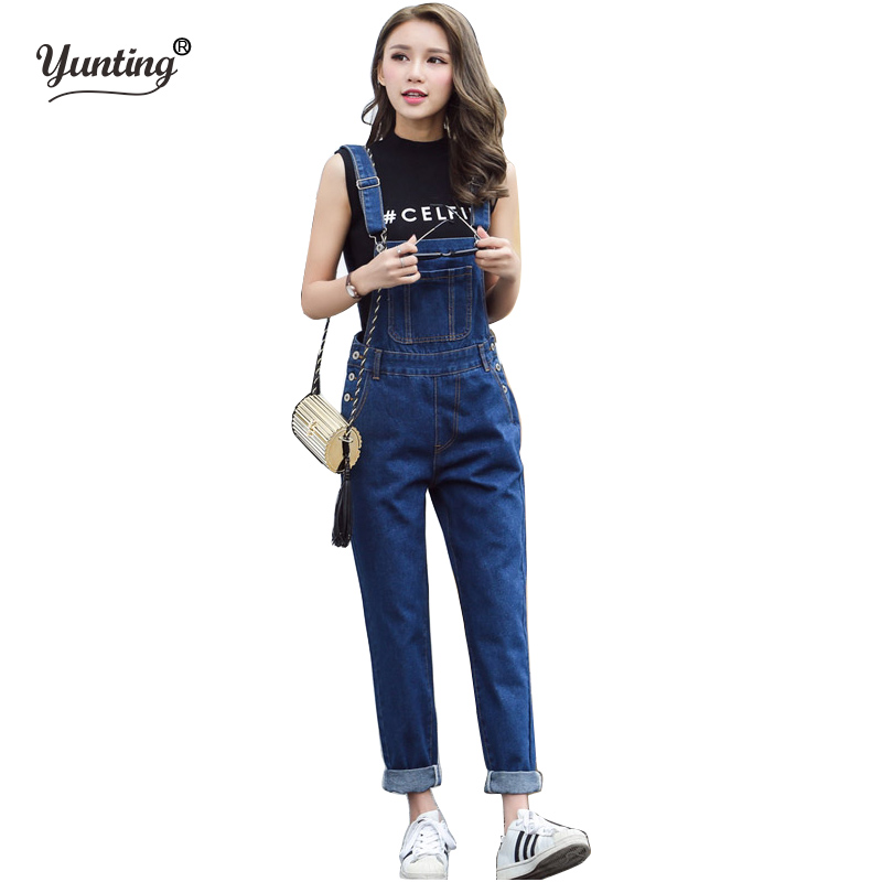 Women Loose Denim Jumpsuits Casual Sexy Stretch Romper Size S- XL LadiesDenim Pencil Overalls For 4 season ...