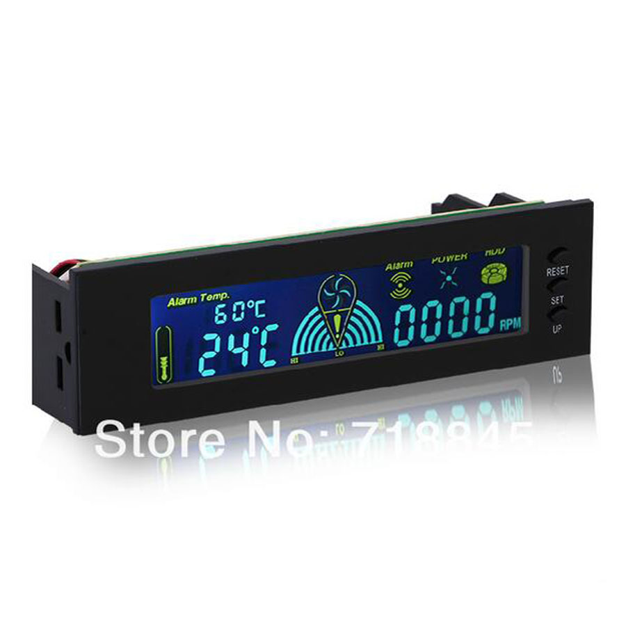 STW5006 Computer chassis fan speed controller 5 Channel optical 5.25' drive fan speed controller CPU fan speed controller stw 3 5 inch 4 channel drive bay fan speed temperature controller