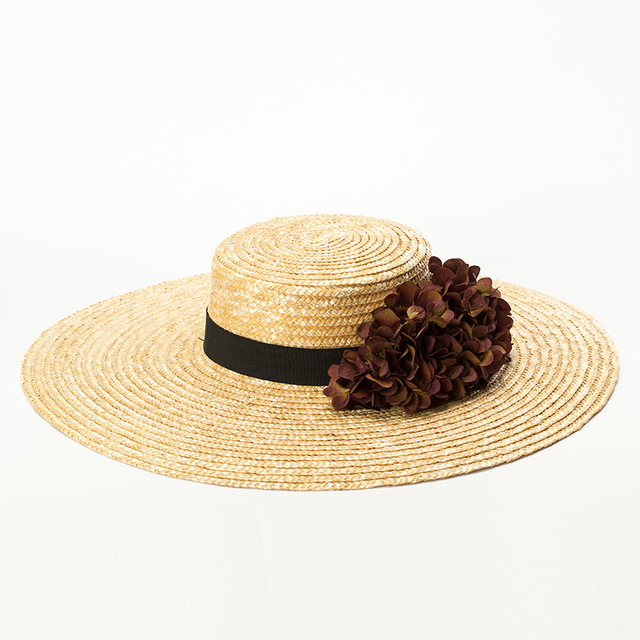 Wide Brim Hat Women Sun Hat Summer Straw Hat 2018 New Fashion Boater Hats  for Ladies eb19057dfbcb