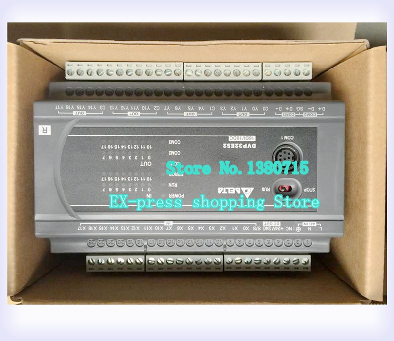 New Original DVP32ES200T PLC ES2 series 100-240VAC 16DI 16DO Transistor output new original dvp40eh00r3 delta plc eh3 series 100 240vac 24di 16do relay output