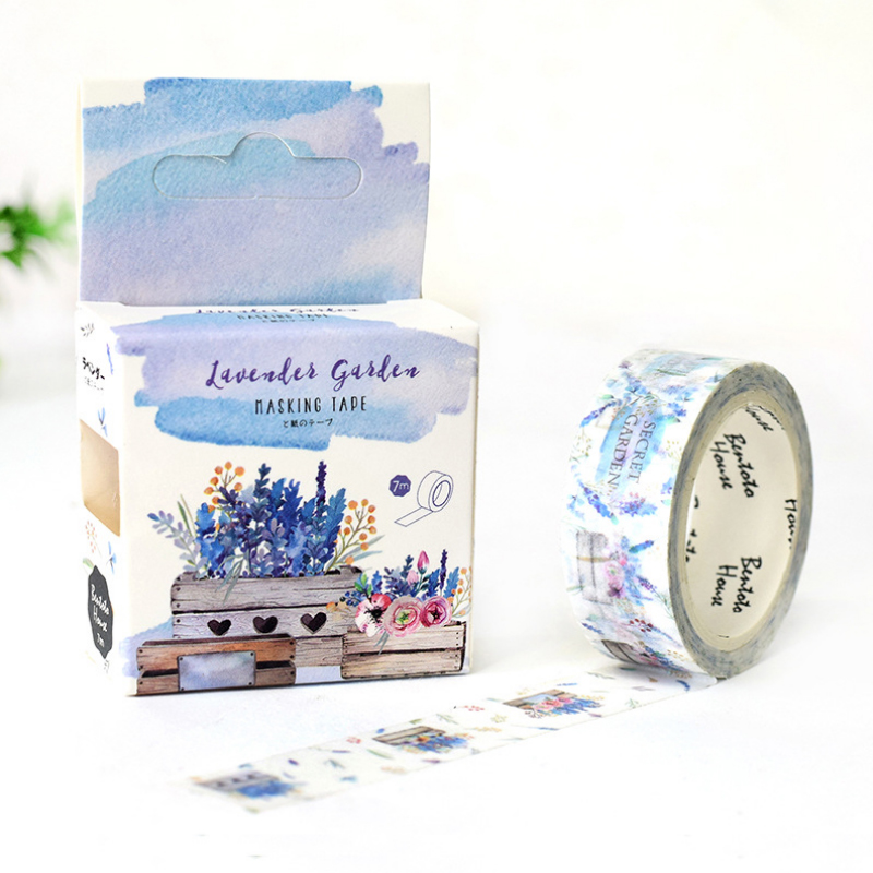 1.5*7M Love of Provence washi tape DIY decorative scrapbooking masking tape adhesive label sticker tape stationery