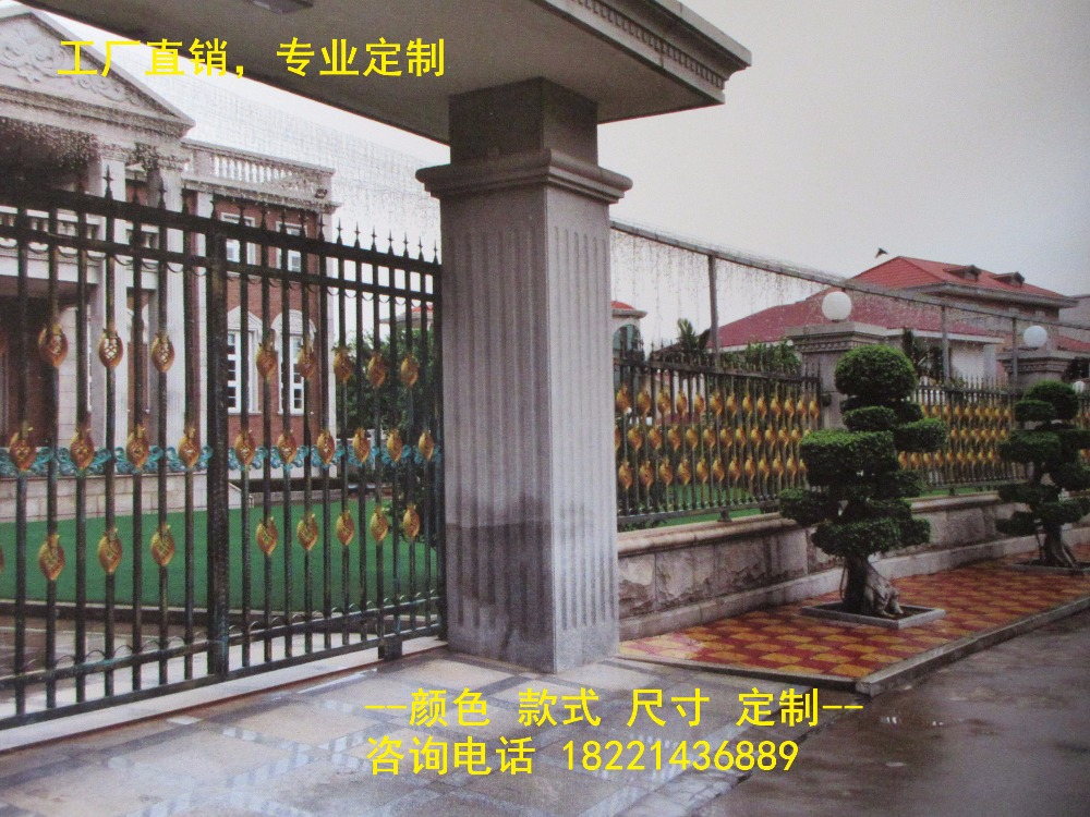 Custom Made Wrought Iron Gates Designs Whole Sale Wrought Iron Gates Metal Gates Steel Gates Hc-g59