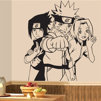Free shipping diy wallpaper Naruto Uzumaki Naruto Cartoon Wall Stickers Wall Decors Decal Wall Paper Home Decor