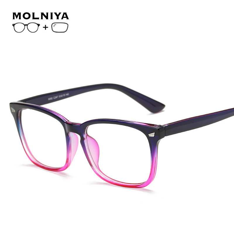 MOLNIYA Myopia Glasses Custom Made Men Women Photochromic Anti Blue Polarized Ray