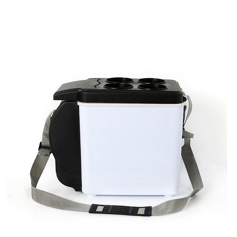 Portable 6L Mini Car Fridge Refrigerator Cold And Warm Mini Car Fridge Freezer Mini Frigo Nevera Icebox  Buzdolab Frigobar