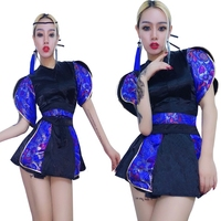 New Female Singer DJ Jazz Dance Costumes Club Bar Sequin Costumes For Dancing Show Women Stage