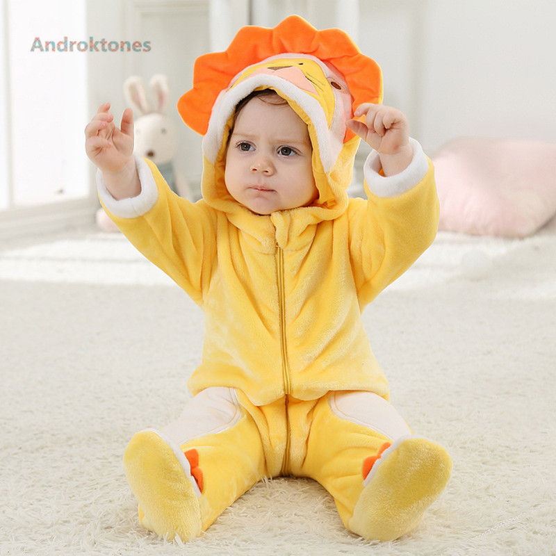Androktones Lion Animal Onesie Baby Girl Boy Clothes Christmas Clothing Kids Romper Cosplay Pajamas Children Halloween Costumes