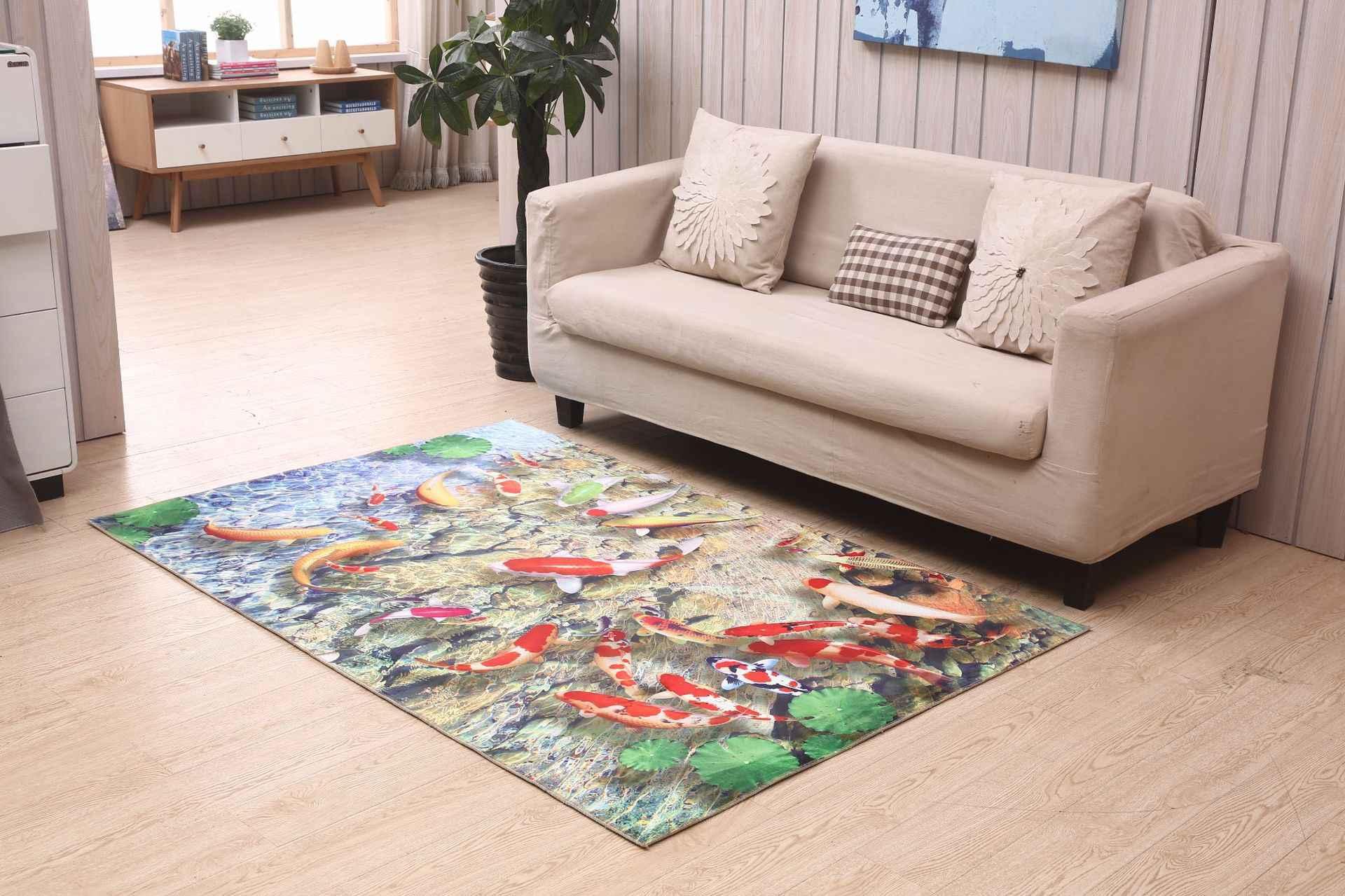 3D Dolph рыбий напечатанный ковер для гостиной Нескользящая прикроватная напольная Коврики для спальни Добро пожаловать коврики под входную дверь ковры диван кухонные коврики