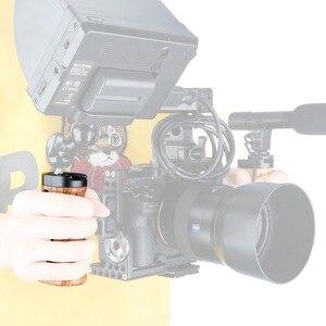 """Image 5 - NICEYRIG カメラハンドウッド一眼レフ木製サイドハンドル靴チーズトップ 1/4 """"ネジ穴用ニコンカメラケージ"""
