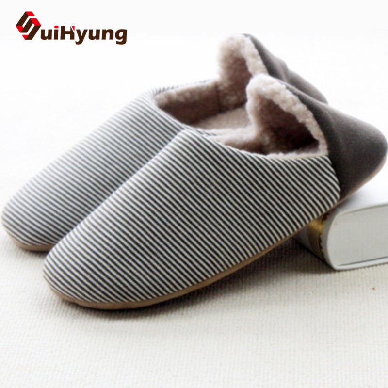 New Winter Warm Cotton padded Shoes For Men Women Home Soft Plush Slippers Coral Fleece Indoor