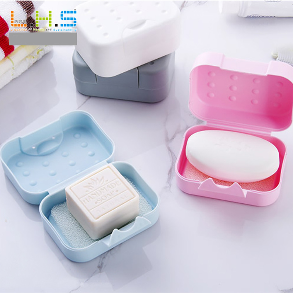 1Pc Bathroom Soap Dish Waterproof Lock Leak Soap Holder Box with Lid Soap Case /&