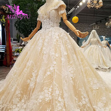 AIJINGYU haut robes de mariée sinueuse liban nouveau Sexy 2021 2020 luxe robe en dentelle robe de mariée