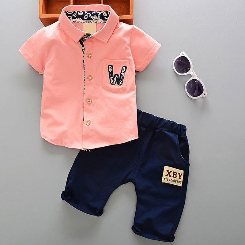 Sommer 1 jahr neugeborenen jungen baby gentleman anzug kleidung sets für junge baby kleidung outfits beiläufige sport oberbekleidung 2 stücke cowboy sets