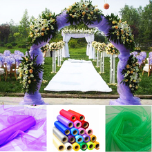 1.5m Wide Organza Fabrics Wedding Decoration Sheer Crystal Home Party Decor Fabric Material 18 Colors For Choose