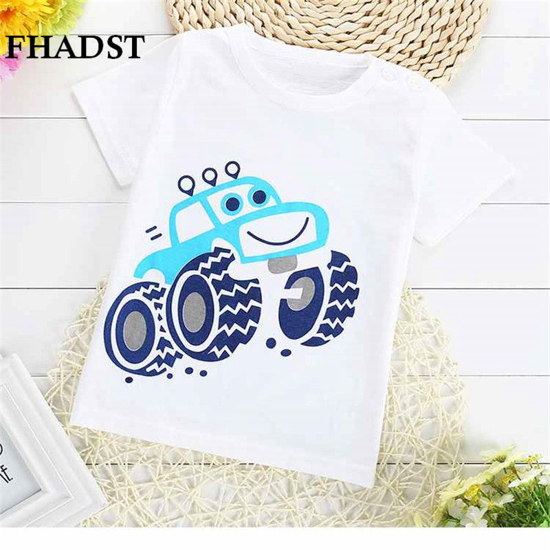 FHADST Hot Sale Cartoon 100% Cotton Short Sleeve Kids Girls T-shirts 2017 Fashion Children Girls Tshirts Baby Girls Clothes