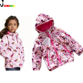Children Jacket Baby Girls Coat Printed Princess Trench Coats Hooded Girls Jackets Velvet Warm Outerwear Kids Clothes