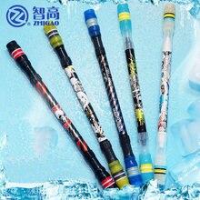 Zhigao V7-5028 girando caneta concurso contas de aço caneta girando pode escrever iq exercício cor aleatória 1 peça