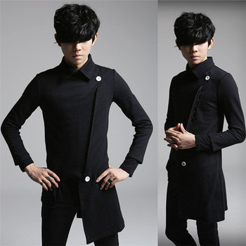 S-5XL!! Autumn and winter men's clothing long-sleeve slim outerwear individuality sweatshirt costume