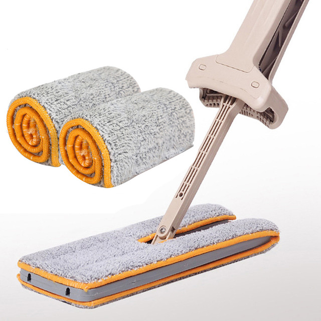 Double Sided Non Hand Washing Abs Flat Mop Wooden Floor Superfine