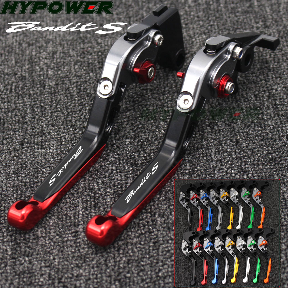 Adjustable Folding Extendable Motorcycle <font><b>Brake</b></font> Clutch Levers For <font><b>SUZUKI</b></font> GSF 1250F BANDIT GSF 1200 GSX 1400 <font><b>GSF1200</b></font> GSF1250F image