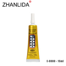 ZHANLIDA E8000 Glue 15ml Epoxy Resine Clear Adhesive Sealant Glue for DIY Diamond Clothes Shoes Craft Jewelry Glue Gun