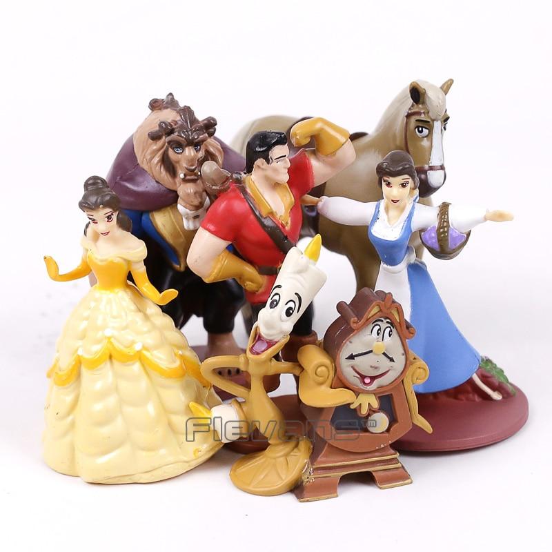 Beauty and the Beast Bella Beast PVC Figures Toys Girls Christmas Birthday Gift 6pcs/set