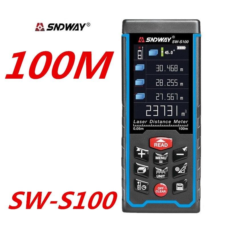 Laser-entfernungsmesser abstand meter Reichweite Finder Rechargeabel USB 100M 70M 50M Messen Engel MultiDirection elektronische Ebene blase