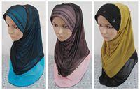 새로운 디자인 숙녀 printe 단색 peral/구슬 일반 코튼 보일 반짝이 숄 긴 이슬람 히잡 스카프/스카