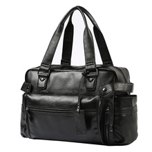 Leather Men Travel Bags Overnight Duffel Bag Weekend Travel Large Tote Crossbody Travel Bags Perfect Quality Shoulder Bag imido 2018 high quality leather bag men travel luggage bags handbag black shoulder bag male crossbody duffel bag large hdg061