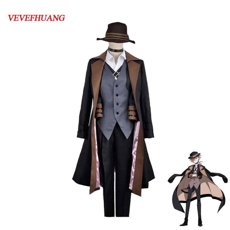 VEVEFHUANG Chuya Nakahara Cosplay Bungou Stray Dogs Costume Port Mafia Anime Cosplay Bungou Stray Dogs Chuya Nakahara Costume
