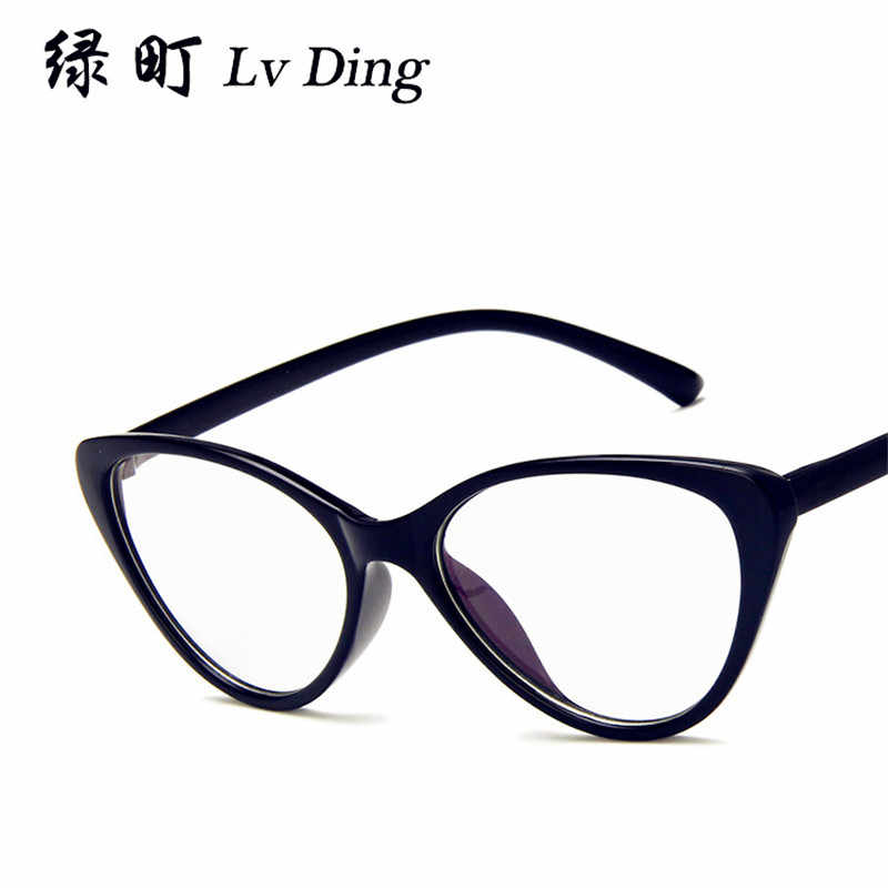 ca156eea38 NULL 2019 New Fashion Cat Eye Glasses Frame Art Small Fresh Translucent Glasses  Frame Europe and