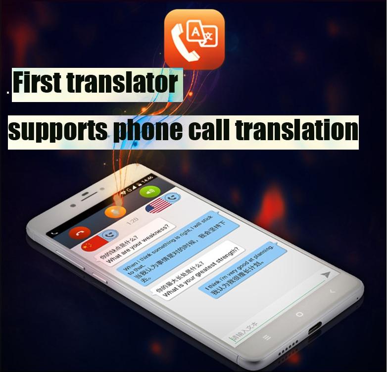 Telephone Calls Translation Two-Way Simultaneous translator phone functions bluetooth dictionary V100 Voice translator gm v100
