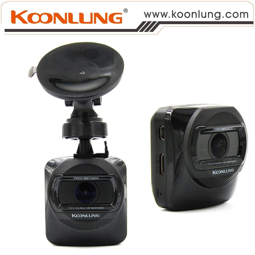 Car DVR 1080P HD Mini Size Single Lens Car DVR Recorder Built-in GPS Novatek Chipset Support G-Sensor Cycle Recording Black Unit