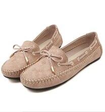 Плюс размер 40 41 черный красный абрикос фиолетовый весна осень женщины случайные плоские туфли бабочкой женщина оксфорд мокасины прогулки вождения обувь