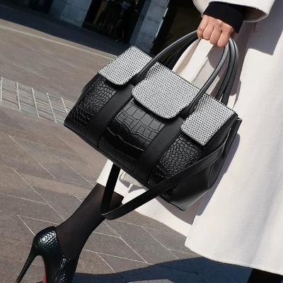 HOT Fashion Brand Women Bags Alligator leather Messenger Bag Designer Chain Shoulder Crossbody Bag Women Handbag