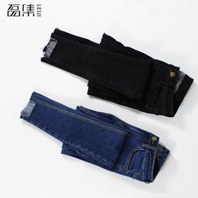 Jeans Woman  High Waist   Plus Size Elastic Skinny Ankle-length   Denim   Pencil Pants 5xl