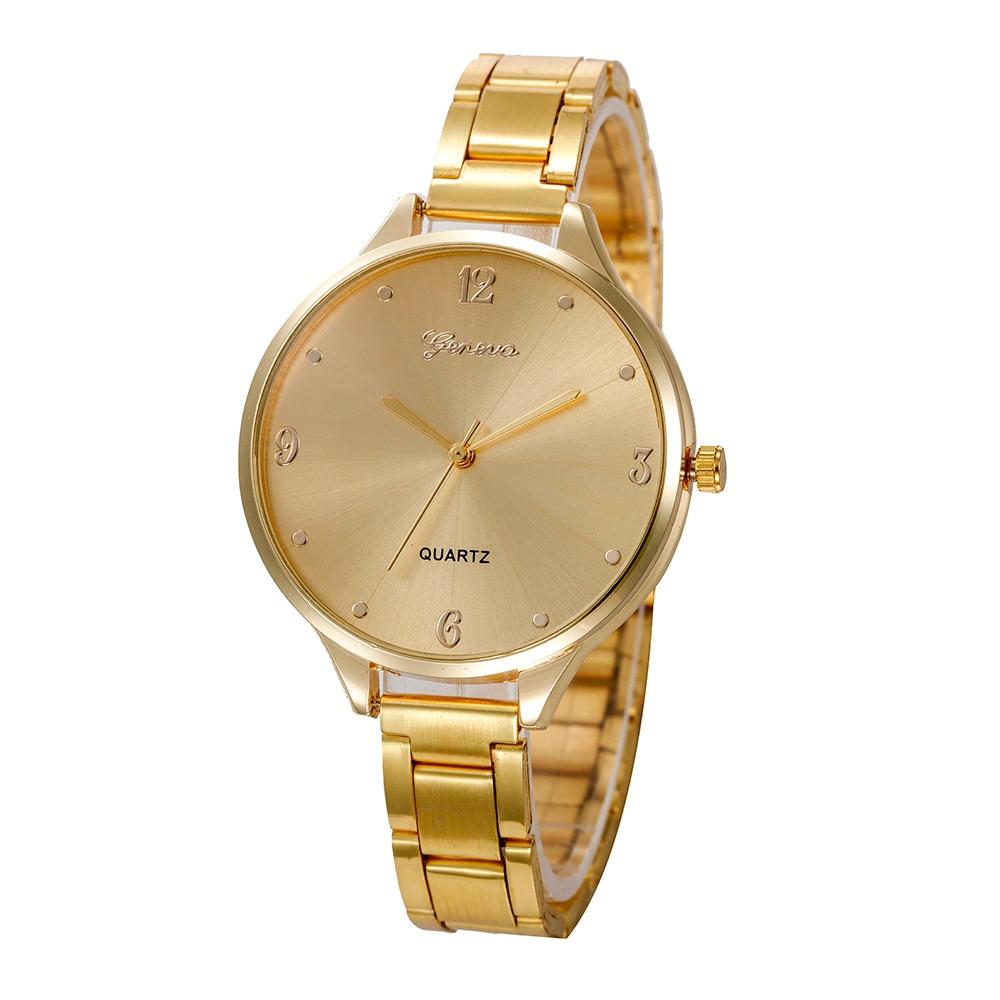 Horloge Dames  Fashion Geneva Brand Roman Numeral Women Wrist Watch Luxury And Minimalism Trendy  Essentials Ladies Clock@50