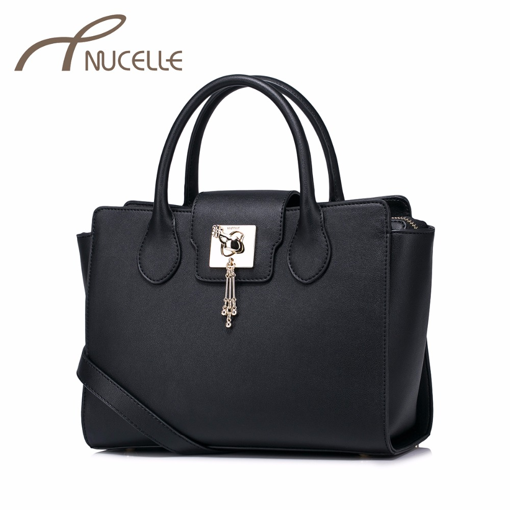 ФОТО NUCELLE Women PU Leather Handbag Ladies Fashion Tassel Lock Messenger Tote Purse Female Leisure Wings Brief Bags NZ41003