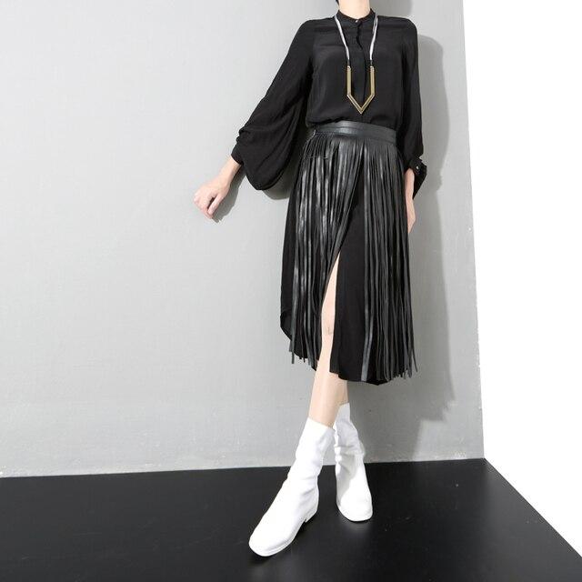 [CHICEVER] Длинные Кисточки ИСКУССТВЕННАЯ Кожа Дизайнер Ремни Женщины Новая Мода