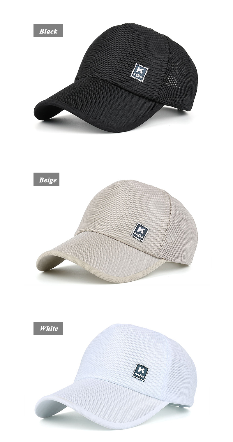 Stamp Emblem Snapback Cap - Black Cap, Beige Cap and White Cap