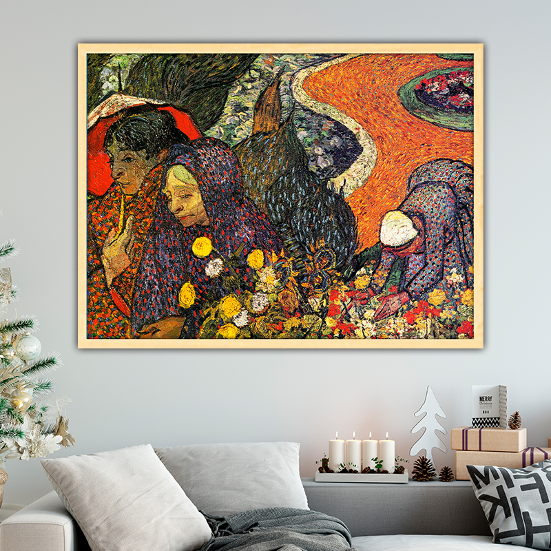 Van Gogh memory of the garden at etten diy by numbers art paint impressionist paint adult hand drawing living room decoration