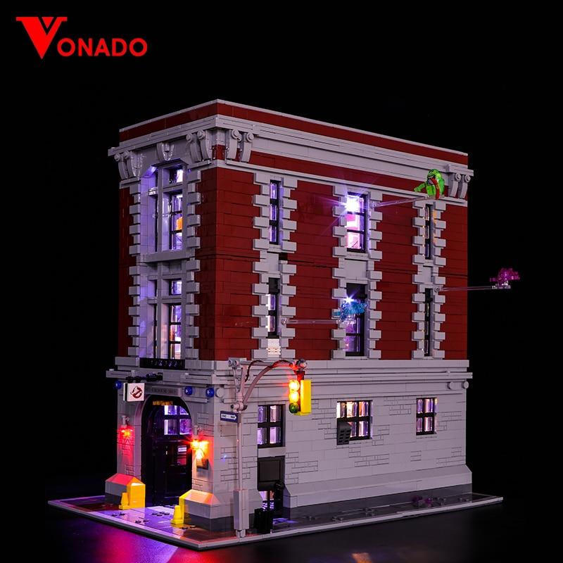 apenas conjunto de luz led compativel para lego 75827 construcao cidade rua ghostbusters quartel general 16001
